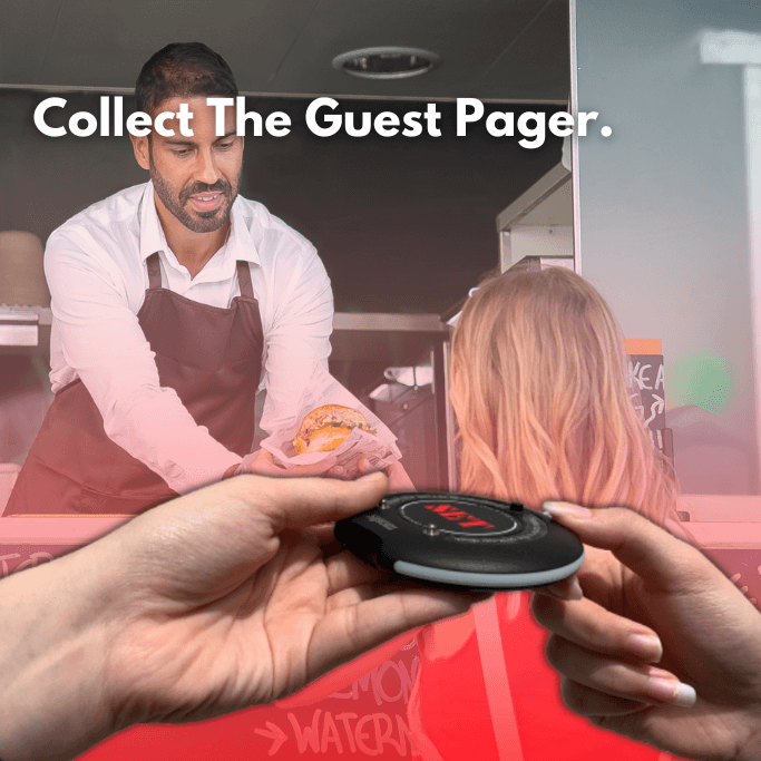 Collect The Guest Pager.